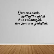 Wall Decal Quote Love Gives Us A Fairytale Vinyl Lettering Wall Decal Dp494 Walmart Com Walmart Com
