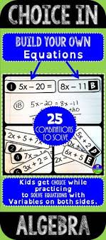 45 best solving linear equations images