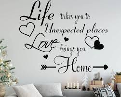 love brings you home quote decal love wall quotes decal for