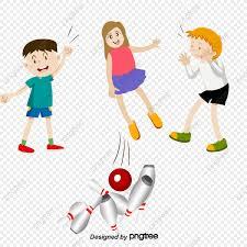 Ilustracion De Dibujos Animados Para Ninos Bowling Cartoon Nino