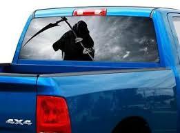 Grim Reaper Scytheman Death Rear Window Decal Sticker Pickup Truck Suv Car Ebay
