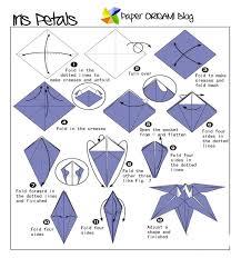 57 info origami flower lily iris