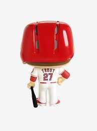 Entertainment Memorabilia Vinyl Figure New Funko Major League Baseball Mike Trout Los Angeles Angels Pop Figures Dolls