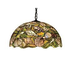 seashell stained glass pendant light