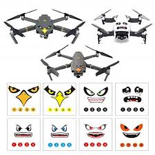 Rcgeek Stickers Set 3m Drone Decals Facial Expression Skins Compatible Dji Mavic 2 Pro Zoom Mavic Pro Platinum Pro Mavic Air Avoiding Birds Clashing 8 Styles Walmart Com Walmart Com
