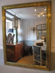 large 19th century french brass mirror