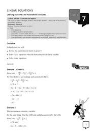 gr 10 linear equations maths excellence