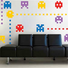 Video Game Room Wall Decals Atari Wall Decals Game Room Stickers Game Room Designs Trendy Wall Designs