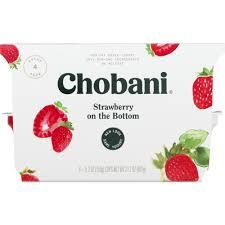 chobani non fat greek yogurt strawberry