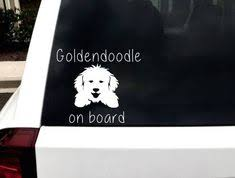 A Personal Favorite From My Etsy Shop Https Www Etsy Com Listing 576819316 Goldendoodle Car Decal Goldendoodle Etsy Vinyl Decals