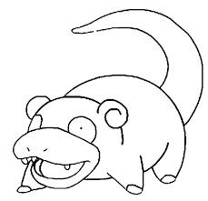 Kleurplaten Pokemon Slowpoke Kleurplaten Pokemon