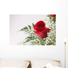 Amazon Com Wallmonkeys Single Red Rose Wall Decal Peel And Stick Floral Graphic 36 In W X 24 In H Wm296737 Furniture Decor