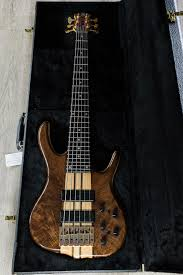 Ken Smith Black Tiger BSR 6-String Bass, Figured Walnut Top and ...