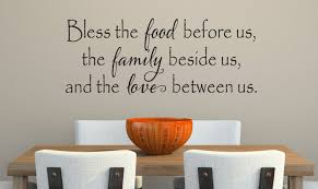 Bless The Food Before Us Wall Decal Kitchen Vinyl Decal Etsy