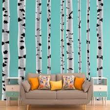 Vwaq Birch Trees Wall Decals Forest Stickers Peel And Stick Removable And Reusable 9 Large Pcs Hol27 Walmart Com Walmart Com