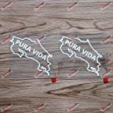 Amazon Com Bd Usa Pura Vida Sticker White Automotive