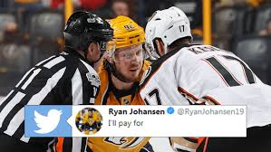 Ryan Johansen has already replied to Ryan Kesler's jab on Twitter with some  words of his own - Article - Bardown