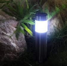 stainless garden stake lights solar