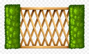 Wooden Fence With Plants Png Clipart Wood Fence Clipart Png Transparent Png 5531827 Pinclipart