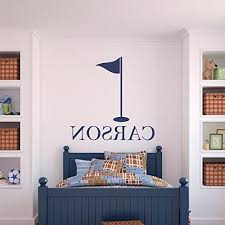 Custom Name Golf Wall Decal Boys Girls