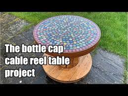 building a beer bottle cap cable reel