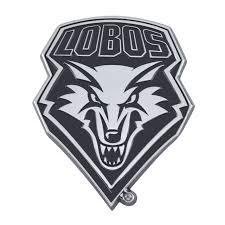 Set Of 2 Ncaa University Of New Mexico Lobos Chrome Emblem Automotive Stick On Car Decal Christmas Central
