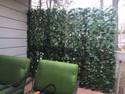 Faux Vine Privacy Screens Ordered These Accordion Screens From Amazon We Bought 2 Boards And Put Hooks In Privacy Fence Screen Artificial Leaf Privacy Walls