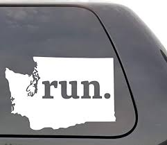 Amazon Com Washington Run Decal Washington Wa Run Decal State Running Decal Car Decal Yeti Decal Laptop Decal Window Decal Vinyl Decal Wall Window Door Car Truck Home Kitchen