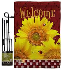 golden sunflowers spring fl garden