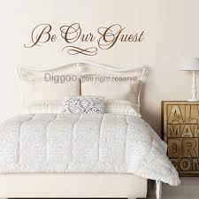 Amazon Com Be Our Guest Wall Decal Vinyl Wall Decals Home Decor Wall Decals Quotes Guest Room Decals Dark Brown 4 5 H X 16 W Furniture Decor