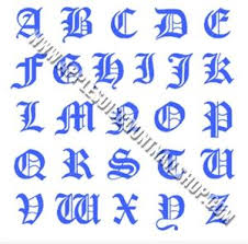 Old English Letters Nail Decals Transparent Background Applesdiscountnailshop