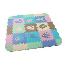 25 Pcs Eva Foam Puzzle Mats Baby Play Mat With Fence Interlocking Foam Floor Tiles Kids Puzzle Mat Baby Crawling Mat Lazada Ph