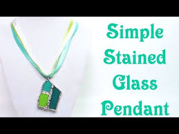 stained glass s necklace tutorial