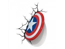 Marvel Comics 3d Led Wall Decal Captain America Shield