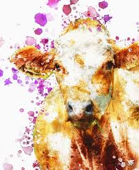 Watercolor Cow I Love Cows Paint Splatter Wall Art Home Decor Kitchem Bathroom Country Decor Farmhouse Farm Ranch Ipad Case Skin By Joannejgg Redbubble