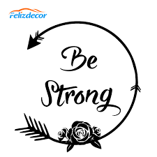 Be Strong Car Decal Art Arrow Auto Decals Motivational Stickers Boho Style Sticker Car Window Bumper Decor Unique Design L659 Car Stickers Aliexpress