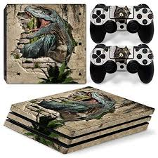 Amazon Com Zoomhitskins Ps4 Pro Console And Controller Skins Primal Jungle Monster Dinosaur World Prehistory T Rex Reptile Durable Bubble Free 1 Console Skin 2 Controller Skins Made In Usa Video Games
