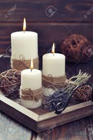 Stock Photo | Candele autunnali, Centrotavola con candele e ...