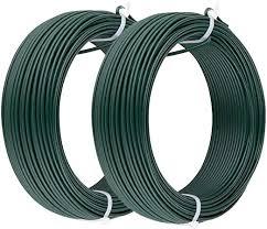 plastic coated garden wire green