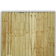 Feather Edge Fence Panel Fully Framed Tanalised 5ft X 6ft