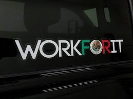 Mexican Flag Workforit Decal Workforit Apparel