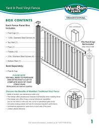 Download Installation Guide Wambam Vinyl Fence