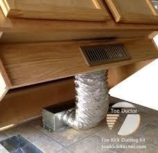 under cabinet toe kick ducting
