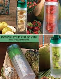 fruit infused water with coconut water
