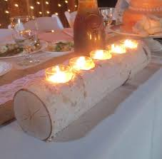 popular birch log candle holders