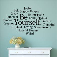 Be Yourself Vinyl Decal Wall Stickers Letters Words Teen Room Decor