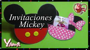 Tarjeta Invitacion Mickey Mouse Yana Youtube