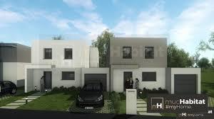 toit plat de 95 m2 avec garage accole