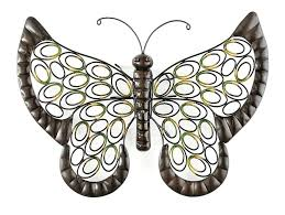 gold metal erfly wall decor outdoor