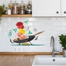 Happy Pan Creative Wall Stickers Kitchen Sign Wall Decal Removable Pvc Interior Modern Design Special Interior Mural Buy Happy Pan Creative Wall Stickers Kitchen Living Room Children S Room Bedroom Home Decoration Wall Stickers Pvc Product On